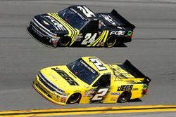 Cody Coughlin, GMS Racing, Jeg's.com Chevrolet Silverado and Justin Haley, GMS Racing, Fraternal Ord