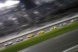 Johnny Sauter, GMS Racing, Allegiant Airlines Chevrolet Silverado leads