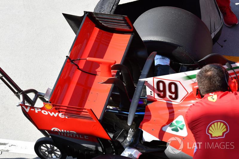 Ferrari SF71H arka kanat detayı
