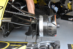 Renault Sport F1 Team R.S. 18 detalle del freno delantero