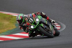#11 Kawasaki Team Green: Jonathan Rea, Kazuma Watanabe, Leon Haslam
