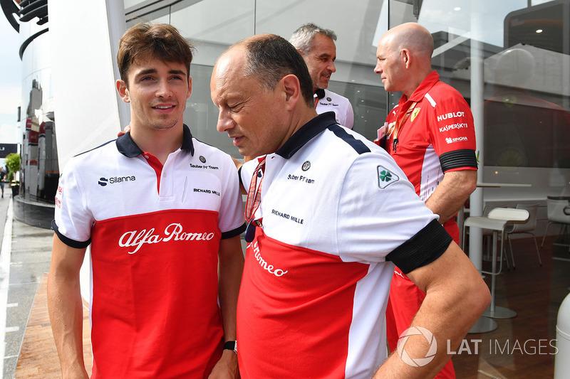 Charles Leclerc, Sauber y Frederic Vasseur, Sauber, Team Principal