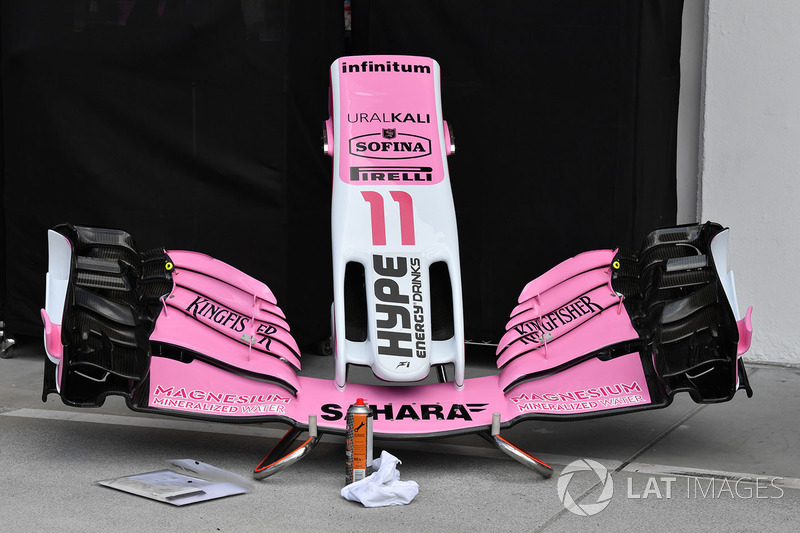 Force India VJM11, naso e ala anteriore