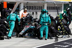 Lewis Hamilton, Mercedes AMG F1 W09, pitstop