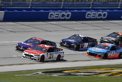 Paul Menard, Wood Brothers Racing, Ford Fusion Motorcraft / Quick Lane Tire & Auto Center, Denny Hamlin, Joe Gibbs Racing, Toyota Camry FedEx Express, Erik Jones, Joe Gibbs Racing, Toyota Camry XYO Network, e Darrell Wallace Jr., Richard Petty Motorsports, Chevrolet Camaro Petty's Garage / Medallion Bank