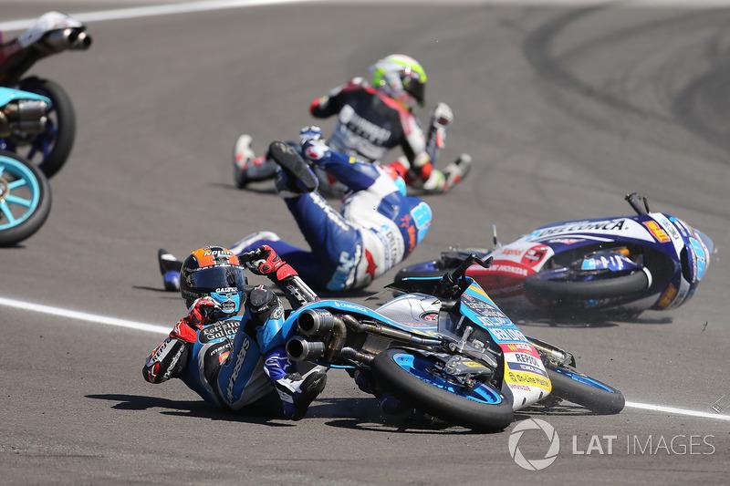 Aron Canet, Estrella Galicia 0,0, crash