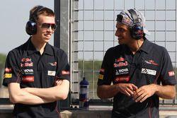Daniil Kvyat, Scuderia Toro Rosso e Carlos Sainz Jr., Scuderia Toro Rosso.