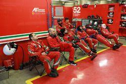 #52 AF Corse Ferrari team area
