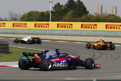 Sergey Sirotkin, Williams FW41 Mercedes, Stoffel Vandoorne, McLaren MCL33 Renault, et Brendon Hartley, Toro Rosso STR13 Honda