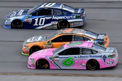 Danica Patrick, Stewart-Haas Racing Ford, Kevin Harvick, Stewart-Haas Racing Ford, and Trevor Bayne,