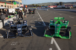 Autos von Jordan King, Ed Carpenter Racing Chevrolet, und Spencer Pigot, Ed Carpenter Racing Chevrolet