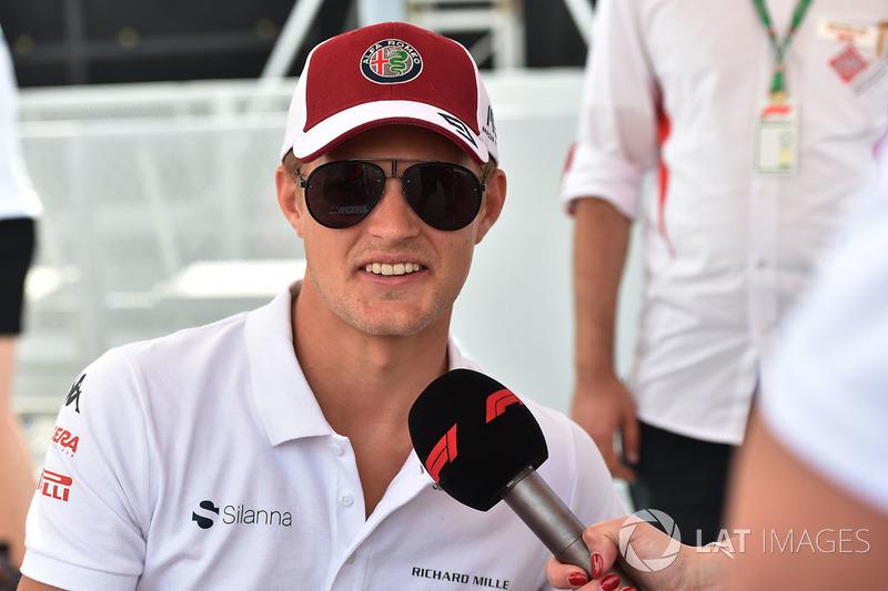 Marcus Ericsson, Sauber lors de la séance d'autographes