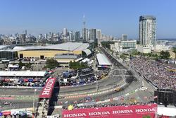 Ryan Hunter-Reay, Andretti Autosport Honda, Scott Dixon, Chip Ganassi Racing Honda, Toronto skyline