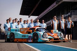 #1 WIN Motorsport Ligier JS P3: William Lok, Philippe Descombes, Richard Bradley with the team members