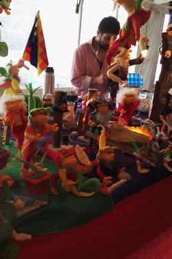 Una delle bancarelle del mercatino dell'artigianato a Chilecito