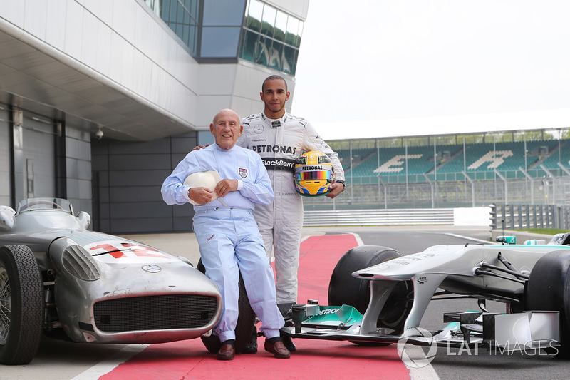 Sir Stirling Moss, Mercedes-Benz W196 e Lewis Hamilton, Mercedes AMG F1