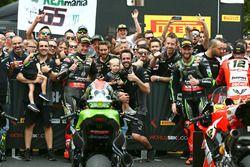 Winnaar Jonathan Rea, Kawasaki Racing, tweede Tom Sykes, Kawasaki Racing