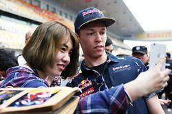 Daniil Kvyat, Red Bull Racing with fans
