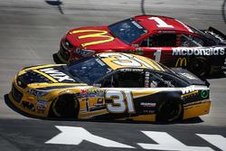 Ryan Newman, Richard Childress Racing Chevrolet, Jamie McMurray, Chip Ganassi Racing Chevrolet