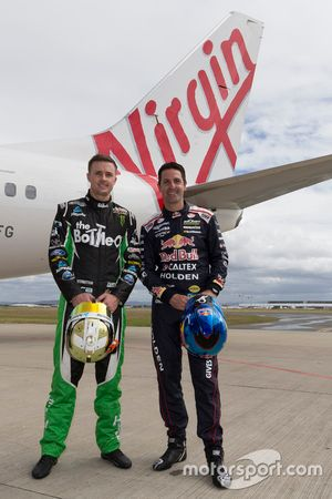 Mark Winterbottom, Prodrive Racing Australia Ford and Jamie Whincup, Triple Eight Race Engineering Holden