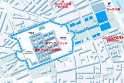 パリePrixのコース図。パリの本当に中心であることが、お判り頂けるだろう
