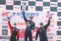 Podium: winner Derek DeBoer, TRG-AMR, second place Jade Buford, third place Martin Barkey