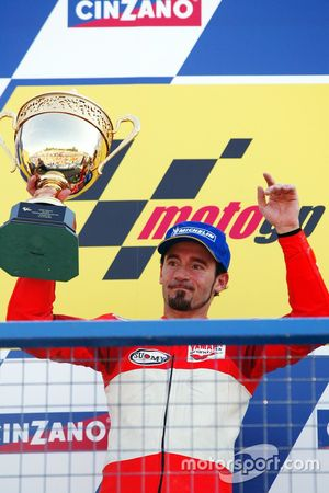 Podium: second place Max Biaggi