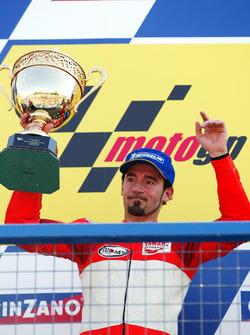 Podium: second place Max Biaggi