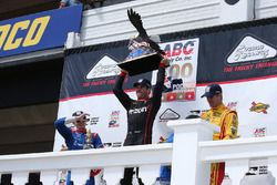 Podium: race winner Will Power, Team Penske Chevrolet, second place Mikhail Aleshin, Schmidt Peterso