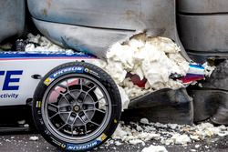 Crash Robin Frijns, Amlin Andretti Formula E Team