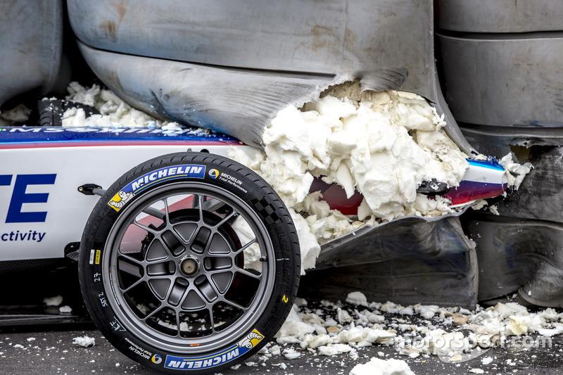 Crash Robin Frijns, Amlin Andretti Formula E Team