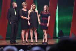 Bryan Clauson's fiancée Lauren Stewart and his family