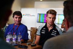 Nico Hulkenberg, Sahara Force India F1 with the media