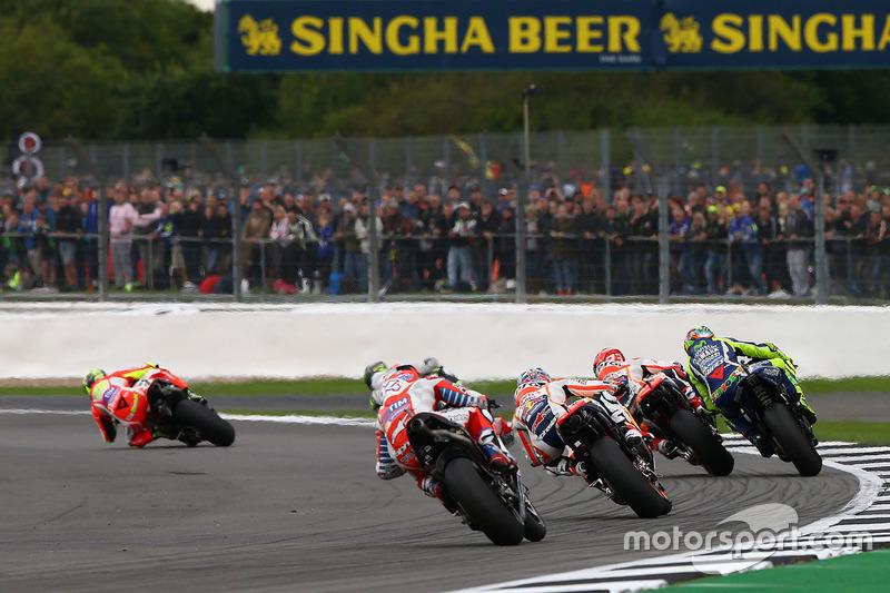 Valentino Rossi, Yamaha Factory Racing, Marc Marquez, Repsol Honda Team, Dani Pedrosa, Repsol Honda Team, Andrea Dovizioso, Ducati Team