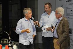 كلاوس نيدزفيدز وباتريك سيمون وراينير براون في الحدث الافتتاحي