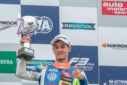 Podium, Alessio Lorandi, Carlin Dallara F312 - Volkswagen