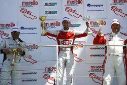 Gara 2. Podio TCR: il secondo classificato Romy Dall'Antonia, BF Racing, Seat Leon Racer-TCR, il vin