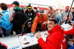İmza seansı: Norbert Michelisz, Honda Racing Team JAS, Honda Civic WTCC