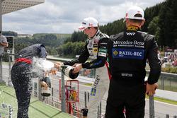 Rookie podium, Niko Kari, Motopark, Dallara F312 – Volkswagen; Joel Eriksson, Motopark, Dallara F312
