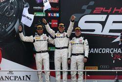 Podium: second place #88 AMG-Team AKKA ASP, Mercedes-AMG GT3: Tristan Vautier, Renger Van der Zande, Felix Rosenqvist
