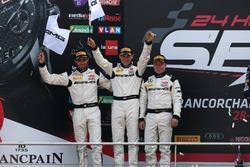 Podio: al secondo posto #88 AMG-Team AKKA ASP, Mercedes-AMG GT3: Tristan Vautier, Renger Van der Zan