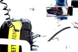 Valtteri Bottas, Williams Martini Racing, as seen in his mirror