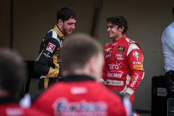 Pietro Fittipaldi, Fortec Motorsports; René Binder, Lotus