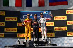 Pierre Gasly, PREMA Racing Antonio Giovinazzi, PREMA Racing and Sergey Sirotkin, ART Grand Prix