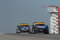#83 Next Level European Porsche Cayman: Greg Liefooghe, Ari Balogh, #38 Next Level European Porsche