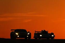 #50 Larbre Competition Corvette C7.R: Ricky Taylor, Lars Viljoen, Pierre Ragues, #44 Manor Oreca 05