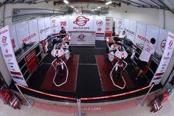 MUSASHi Boon Siew Honda Racing team area