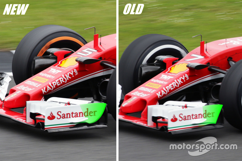 Ala delantera Ferrari SF16-H