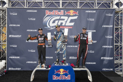 Podium: race winner Scott Speed, Volkswagen, second place Brian Deegan, Ford, third place Steve Arpin, Ford