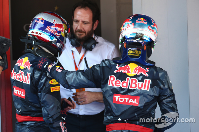 Max Verstappen, Red Bull Racing RB12 y Daniel Ricciardo, Red Bull Racing RB12